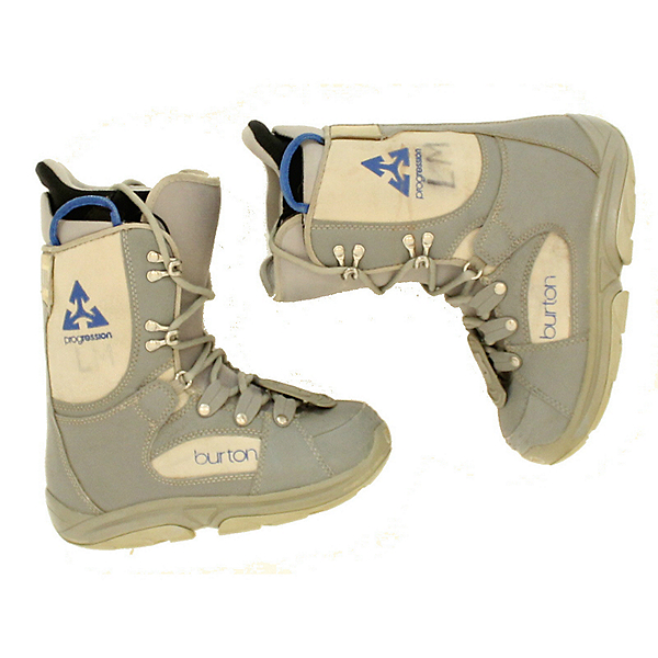 Burton Progression Womens Snowboard Boots, Gray Lt Gray1, 600