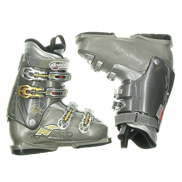 Used Nordica One S Womens Ski Boots SALE, Dark-Grey, 600
