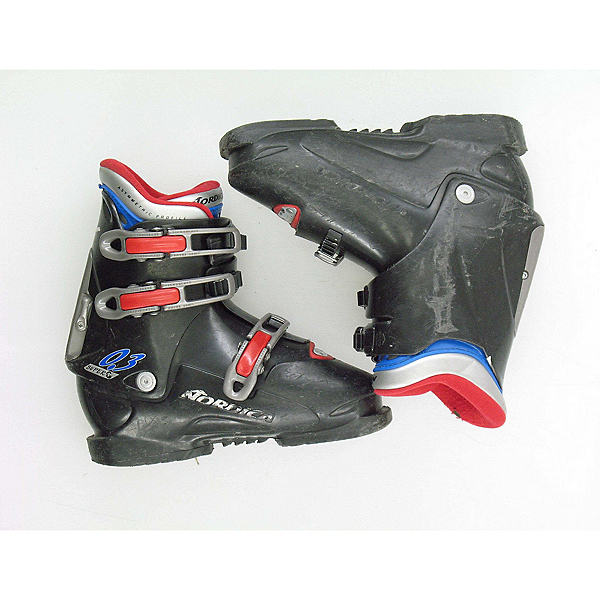 Used Nordica Super 0.3 Kids Youth Size Ski Boots SALE, , 600