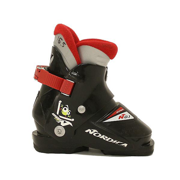 Used Nordica Super N0.1 Ski Boots, Mascot, 600