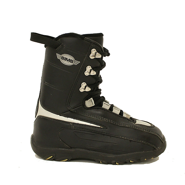 Used Sims Youth Size Snowboard Boots Size Choices SALE, Black-Silver, 600