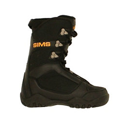 Used Sims Youth Size Snowboard Boots Size Choices SALE, Black Orange, 256