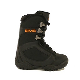 Used Sims JSL Snowboard Boots US Youth Size 4 Nice Black Orange, , 256