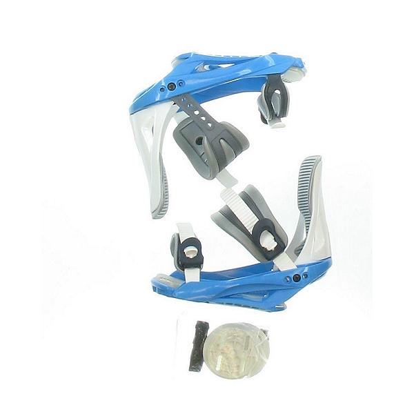 Used Snowjam White and Light Blue Snowboard Bindings, , 600