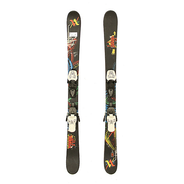 Used 2011 Volkl Ledge Jr Kids Youth Skis Marker 4.5 Bindings A Condition, , 600
