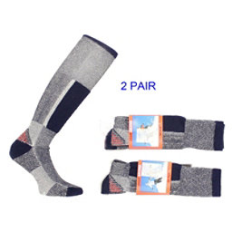 Smart Socks 2 Pack = 2 Pairs Tech Skiing Sock Blue Gray, , 256