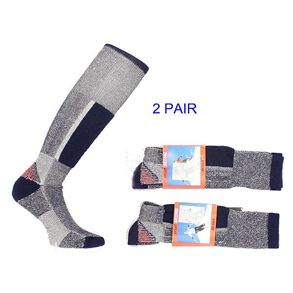 Smart Socks 2 Pack = 2 Pairs Tech Skiing Sock Blue Gray, , 600