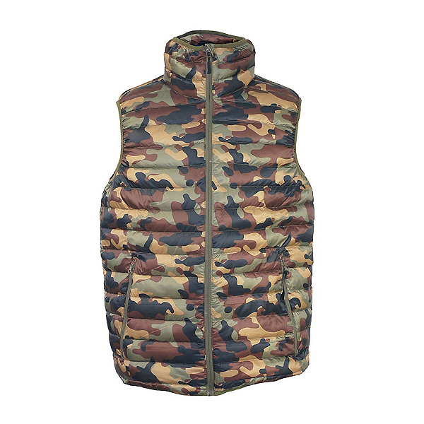 Sportcaster Powderdown Mens Vest by Sportscaster Duck Down New, Camo, 600