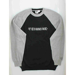 Tech Nine Snowboard Co Black & Gray Hip Hop Mens Sweater, , 256