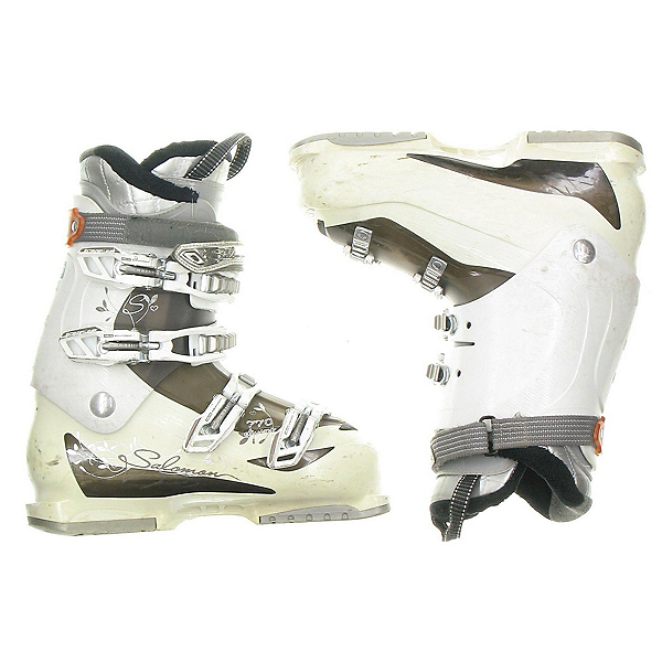 Used Womens Salomon Divine 770 Ski Boots Size Choices, White, 600