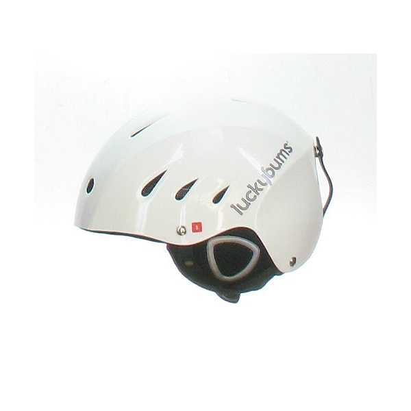 Lucky Bums Used Lucky Bums Adult Ski & Snowboard Helmet White Medium Goggle Strap Missing Helmet, , 600
