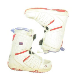 Used Salomon Pearl White Snowboard Boots, , 256