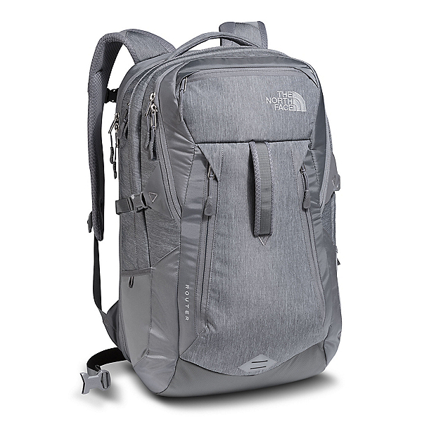 The North Face Router Backpack, TNF Medium Grey Heather-Zinc Grey, 600