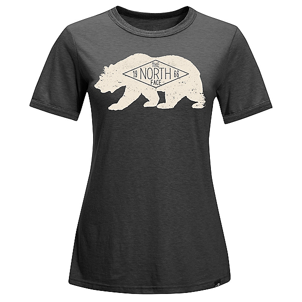 The North Face Natural World Ringer Womens T-Shirt, TNF Dark Grey Heather, 600
