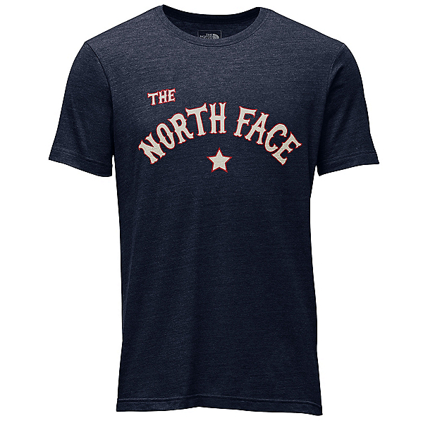 The North Face Americana Tri-Blend Slim T-Shirt, Urban Navy Heather, 600