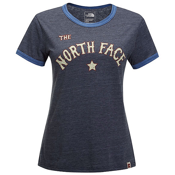 The North Face Americana Ringer Womens T-Shirt, Urban Navy Heather-True Navy, 600