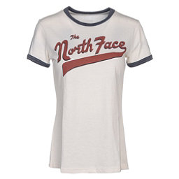 The North Face Americana Ringer Womens T-Shirt, Vintage White Heather-Urban Na, 256