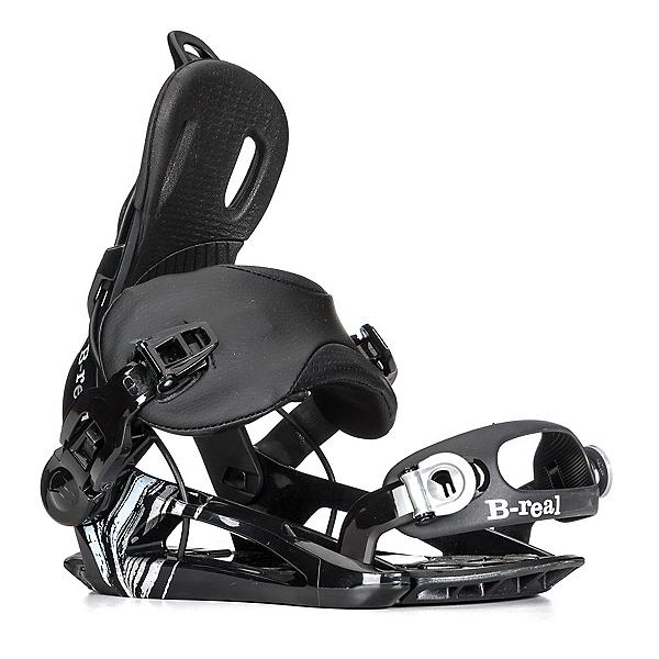 Gnu B-Real Womens Snowboard Bindings, Black, 600