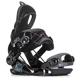 Gnu Be-Here Womens Snowboard Bindings, Black, 256
