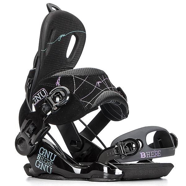Gnu Be-Here Womens Snowboard Bindings, Black, 600