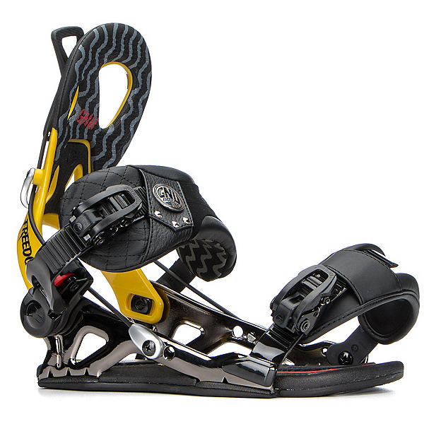 Gnu Freedom Snowboard Bindings, Yellow, 600