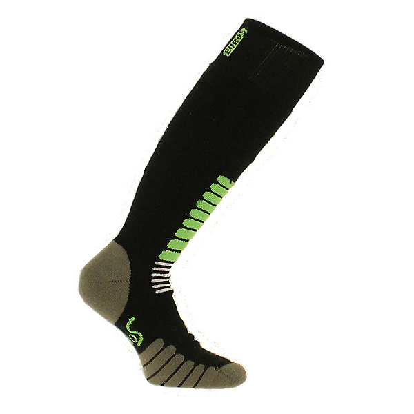 Euro Hockey Equipment New Eurosock Ski Zone Medium Weight Sock Black and Mint #1112, , 600