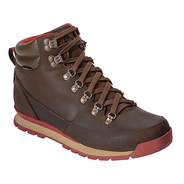 The North Face Back-To-Berkeley Leather Mens Boots, Carafe Brown-Ketchup Red, 600