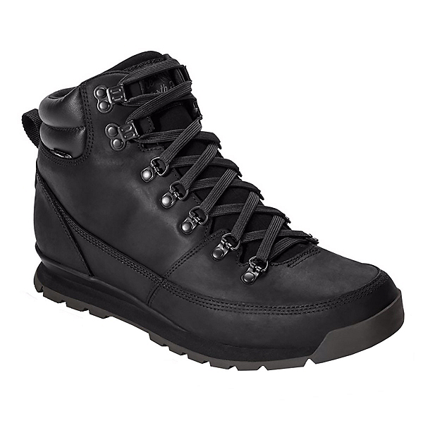 The North Face Back-To-Berkeley Leather Mens Boots, TNF Black-TNF Black-TNF Black, 600