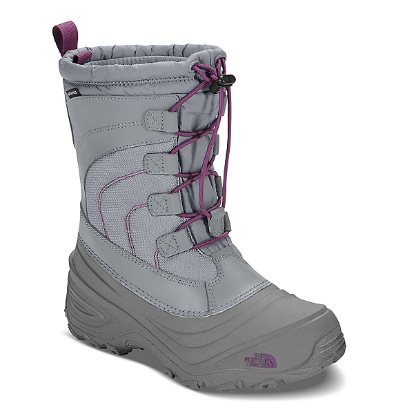The North Face Alpenglow IV Girls Boots, Frost Grey-Wood Violet, 600