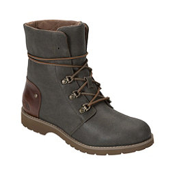 The North Face Ballard Lace II Coated Canvas Womens Boots, Burnt Olive Green-Cub Brown, 256