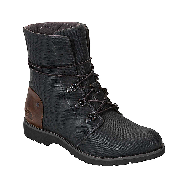 The North Face Ballard Lace II Coated Canvas Womens Boots, TNF Black-Tagumi Brown, 600