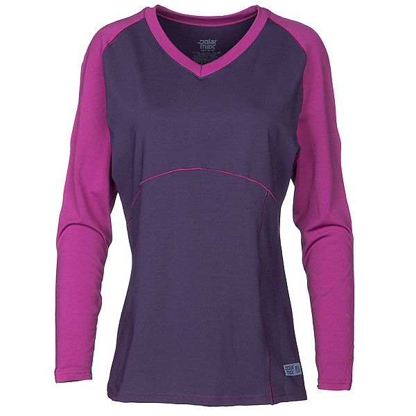 PolarMax Comp3 4-Way Stretch Womens Long Underwear Top, Deep Purple, 600
