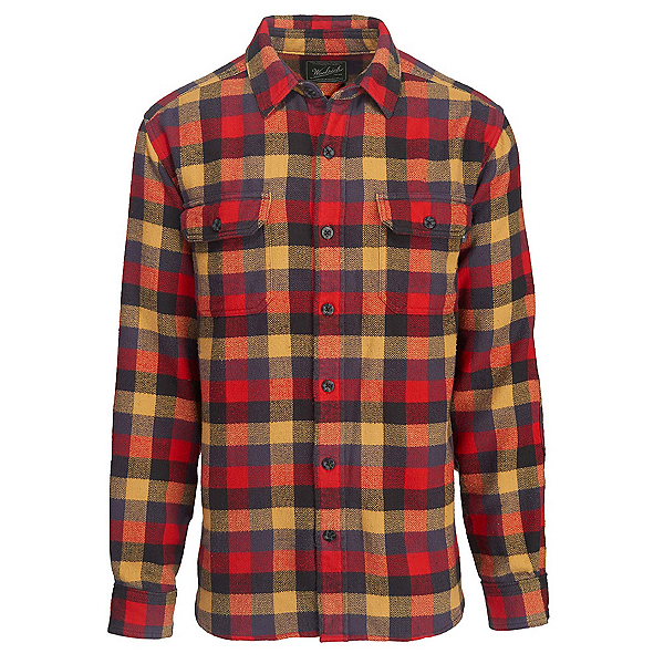 Woolrich Oxbow Bend Flannel Shirt, Red Multi, 600