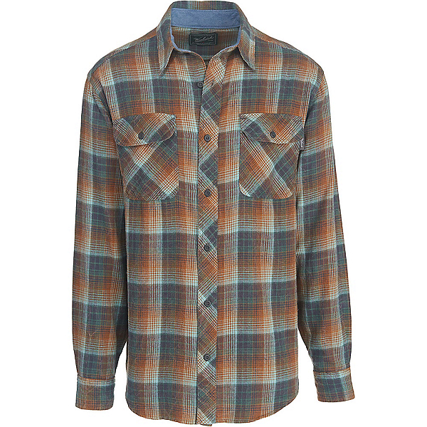 Woolrich Miners Wash Flannel Shirt, Mallard Green, 600