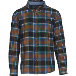 Woolrich Trout Run Flannel Shirt, Black Multi, 256