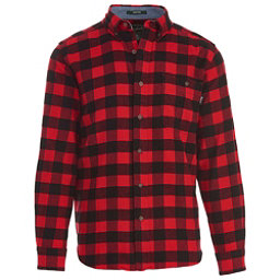 Woolrich Trout Run Flannel Shirt, Old Red Buffalo, 256
