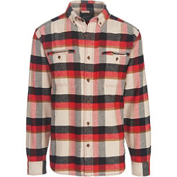 Woolrich Oxbow Pass Eco Rich Flannel Shirt, Stone Herringbone, 256