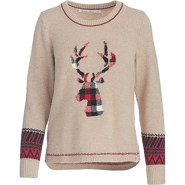 Woolrich Motif Womens Sweater, Burlap, 600