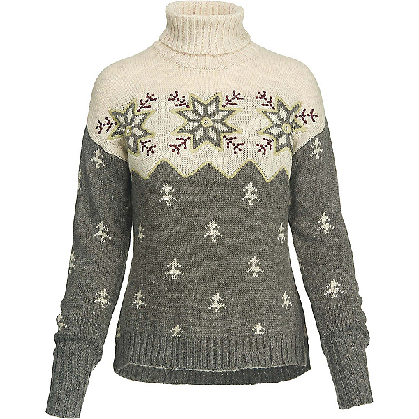 Woolrich Snowfall Valley Turtleneck Womens Sweater, Dark Gull Gray Snowflake, 600