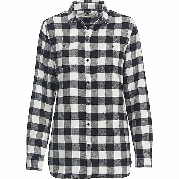 Woolrich Pemberton Boyfriend Flannel Shirt, Ivory Check, 600