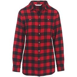 Woolrich Pemberton Boyfriend Flannel Shirt, Old Red Check, 256