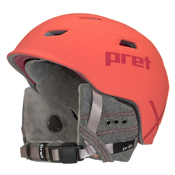 Pret Luxe X Womens Helmet 2018, Rubber Hot Coral, 600