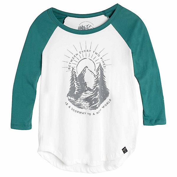 United By Blue 3/4 Two Pines Baseball Tee Womens Shirt, , 600