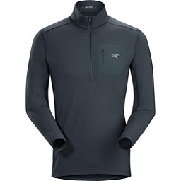 Arc'teryx RHO LT Zip neck Mens Long Underwear Top, Nighthawk, 256