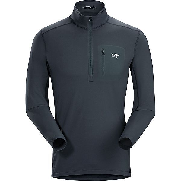 Arc'teryx RHO LT Zip neck Mens Long Underwear Top, Nighthawk, 600