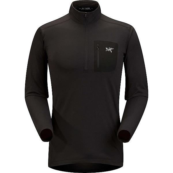 Arc'teryx RHO LT Zip neck Mens Long Underwear Top, Black, 600