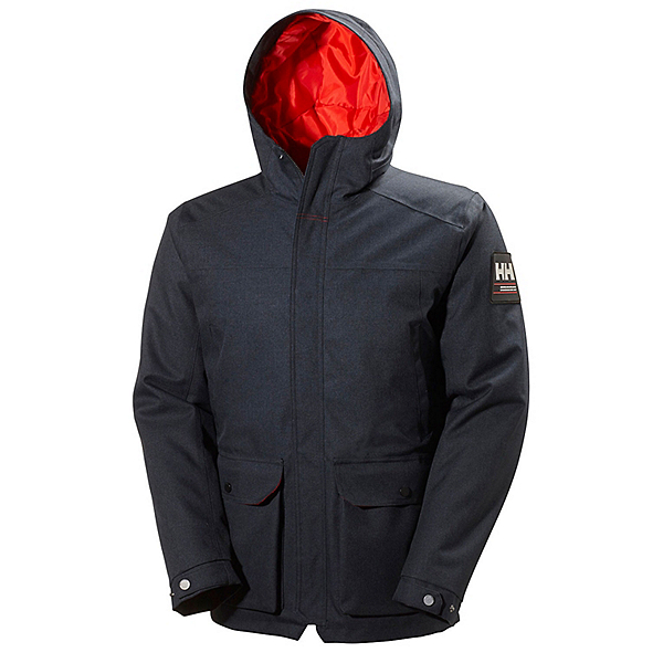 Helly Hansen Brage Parka Mens Jacket, Navy, 600