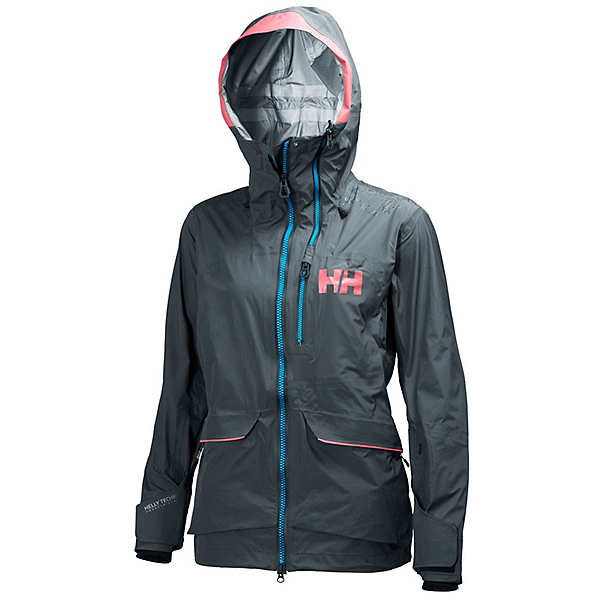 Helly Hansen Aurora Womens Shell Ski Jacket, Rock, 600