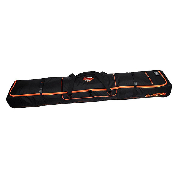 Sportube Ski Shield 2 Wheeled Ski Bag, Black-Orange, 600