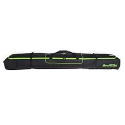 Sportube Ski Shield 2 Wheeled Ski Bag 2018, Black-Green, 256